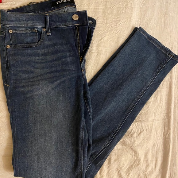 Express 10 long skinny jeans